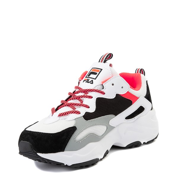 alternate image alternate view Womens Fila Ray Tracer Athletic Shoe - White / Black / CoralALT2