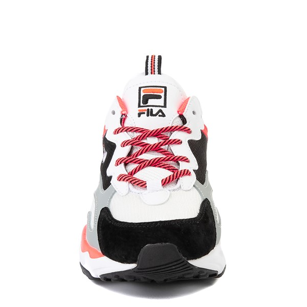 alternate image alternate view Womens Fila Ray Tracer Athletic Shoe - White / Black / CoralALT4