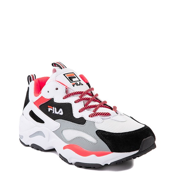 alternate image alternate view Womens Fila Ray Tracer Athletic Shoe - White / Black / CoralALT5