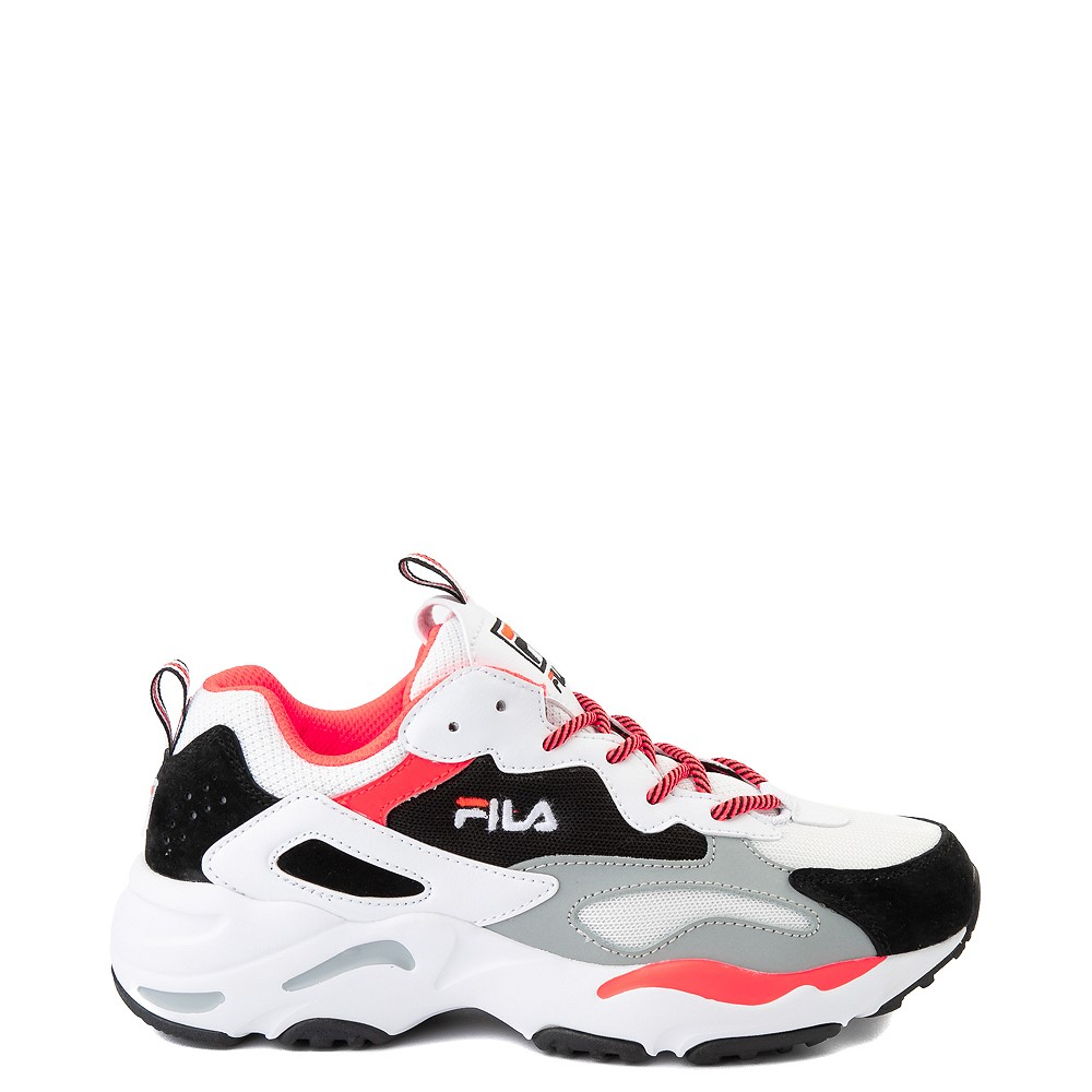 Womens Fila Ray Tracer Athletic Shoe - White / Black / Coral
