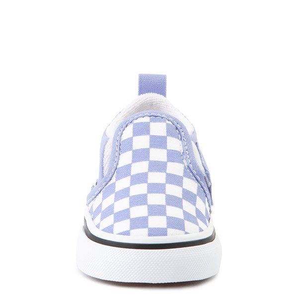 alternate image alternate view Vans Slip On V Checkerboard Skate Shoe - Baby / Toddler - Pale Iris / WhiteALT4