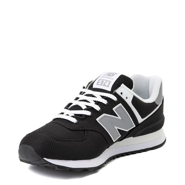 alternate image alternate view Mens New Balance 574 Athletic Shoe - Black / GreyALT2