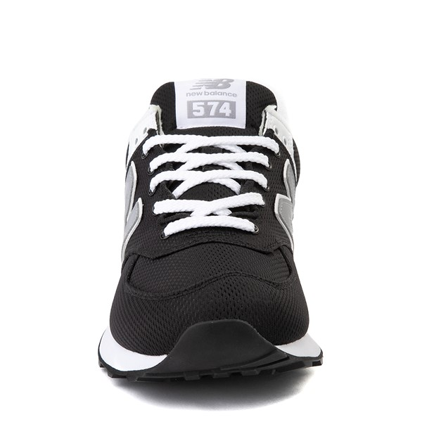 alternate image alternate view Mens New Balance 574 Athletic Shoe - Black / GreyALT4
