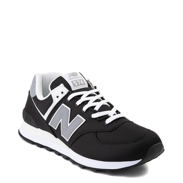 alternate image alternate view Mens New Balance 574 Athletic Shoe - Black / GreyALT5