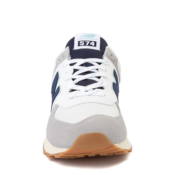 alternate image alternate view Mens New Balance 574 Athletic Shoe - Light Grey / Navy / TurquoiseALT4