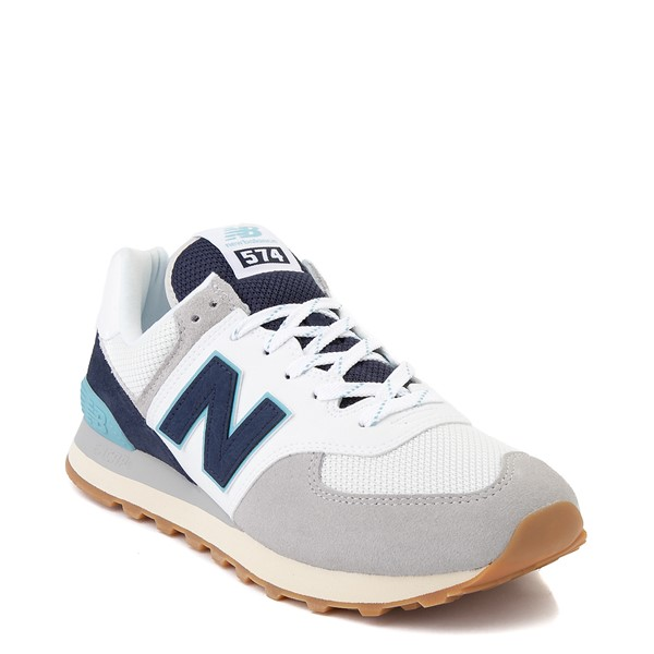 alternate image alternate view Mens New Balance 574 Athletic Shoe - Light Grey / Navy / TurquoiseALT5