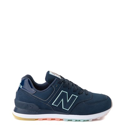 Main view of Womens New Balance 574 Athletic Shoe - Blue