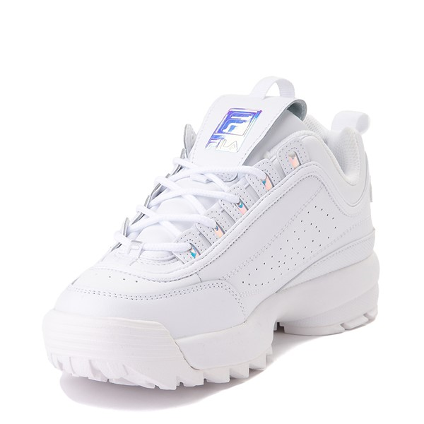 alternate image alternate view Womens Fila Disruptor 2 Premium Athletic Shoe - White / IridescentALT2