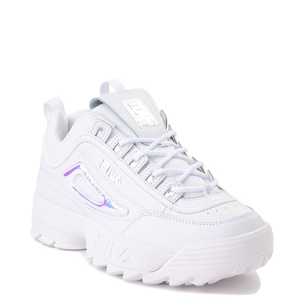 alternate image alternate view Womens Fila Disruptor 2 Premium Athletic Shoe - White / IridescentALT5