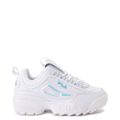 Main view of Womens Fila Disruptor 2 Premium Athletic Shoe - White / Iridescent