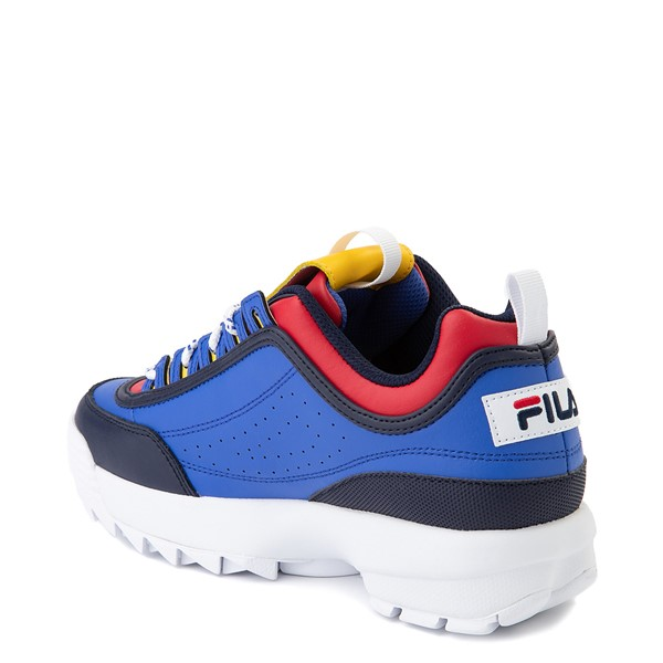 alternate image alternate view Womens Fila Disruptor 2 Athletic Shoe - Blue / Red / YellowALT1