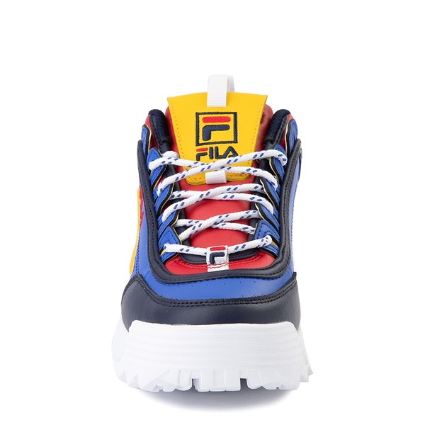 alternate image alternate view Womens Fila Disruptor 2 Athletic Shoe - Blue / Red / YellowALT4