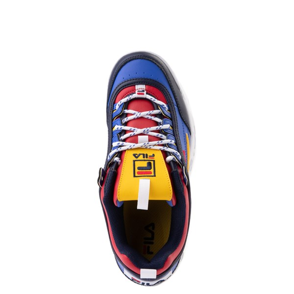alternate image alternate view Womens Fila Disruptor 2 Athletic Shoe - Blue / Red / YellowALT4B