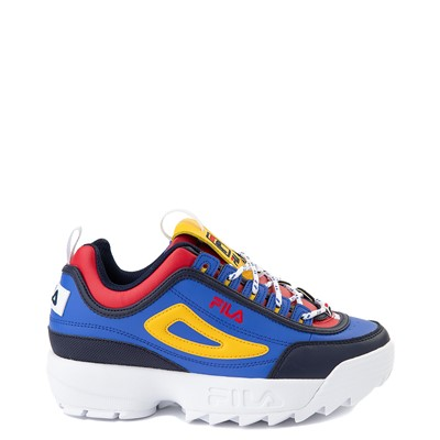 Main view of Womens Fila Disruptor 2 Athletic Shoe - Blue / Red / Yellow