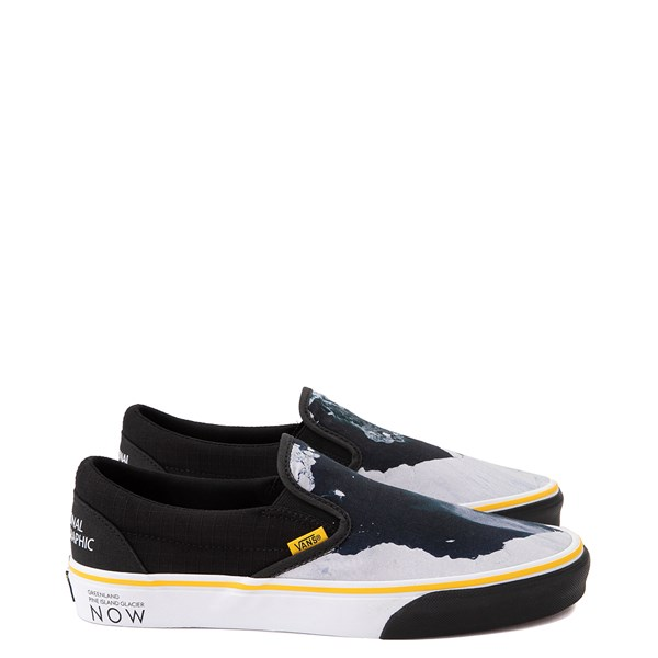 Vans x National Geographic Slip On Glaciers Skate Shoe - Black