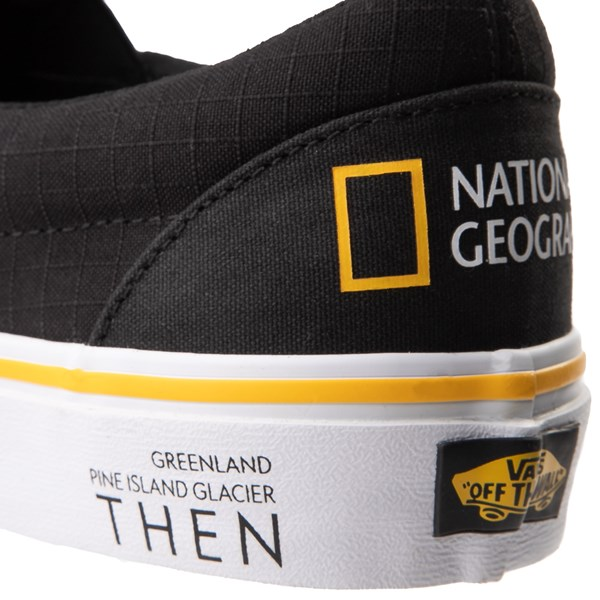 alternate image alternate view Vans x National Geographic Slip On Glaciers Skate Shoe - BlackALT8