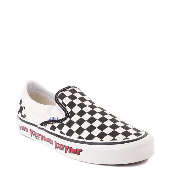 alternate image alternate view Vans Anaheim Factory Slip On Fast Times Checkerboard Skate Shoe - Black / WhiteALT1
