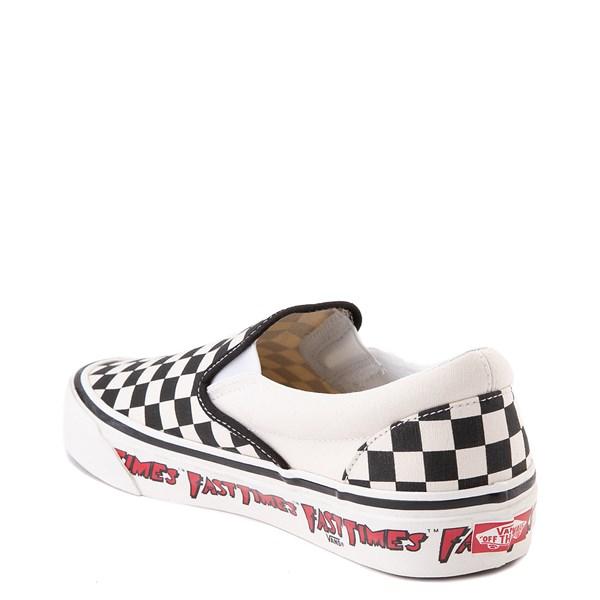 alternate image alternate view Vans Anaheim Factory Slip On Fast Times Checkerboard Skate Shoe - Black / WhiteALT2