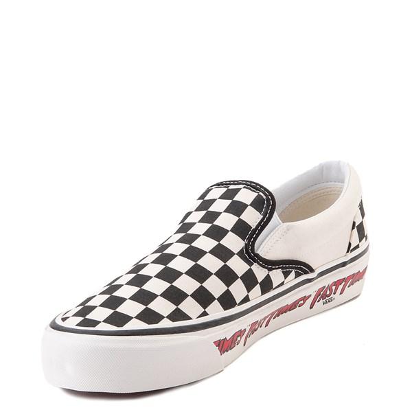 alternate image alternate view Vans Anaheim Factory Slip On Fast Times Checkerboard Skate Shoe - Black / WhiteALT3