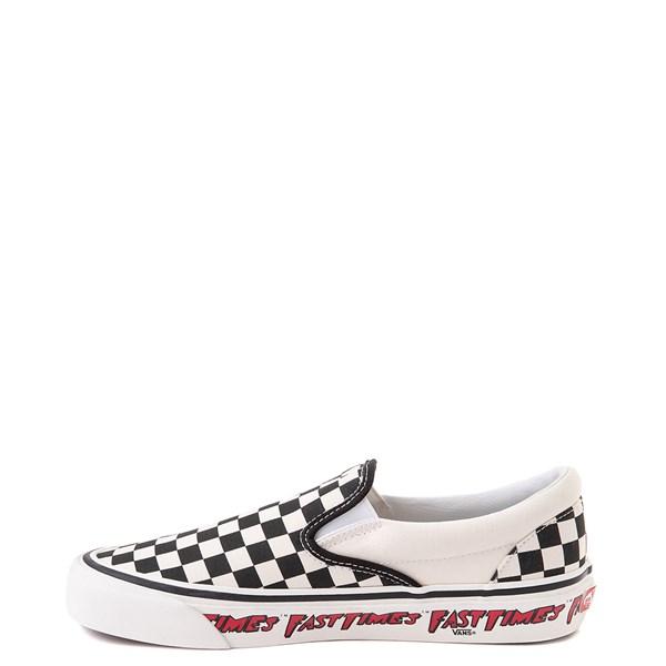 alternate image alternate view Vans Anaheim Factory Slip On Fast Times Checkerboard Skate Shoe - Black / WhiteALT6