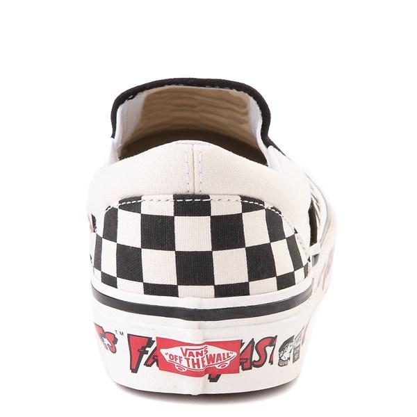 alternate image alternate view Vans Anaheim Factory Slip On Fast Times Checkerboard Skate Shoe - Black / WhiteALT7