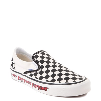 Alternate view of Vans Anaheim Factory Slip On Fast Times Checkerboard Skate Shoe - Black / White