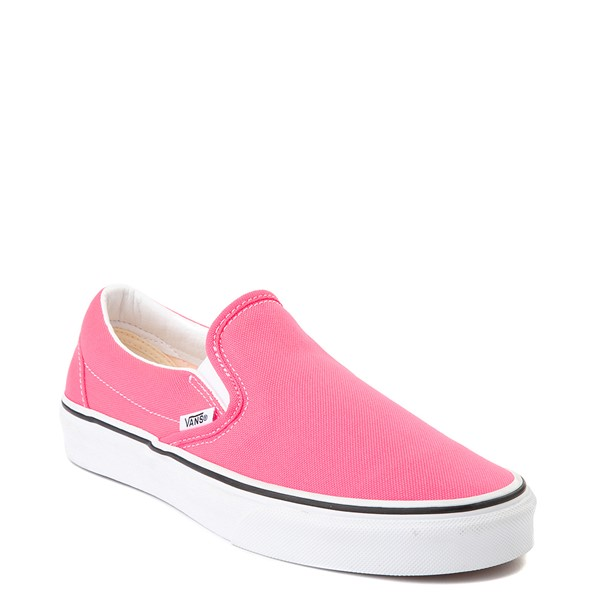 alternate image alternate view Vans Slip On Skate Shoe - Neon PinkALT5