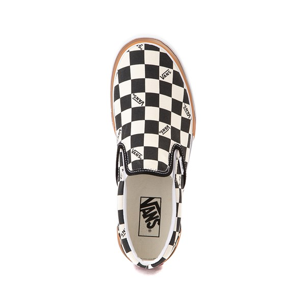 alternate image alternate view Vans Slip On Stacked Checkerboard Skate Shoe - Black / WhiteALT2