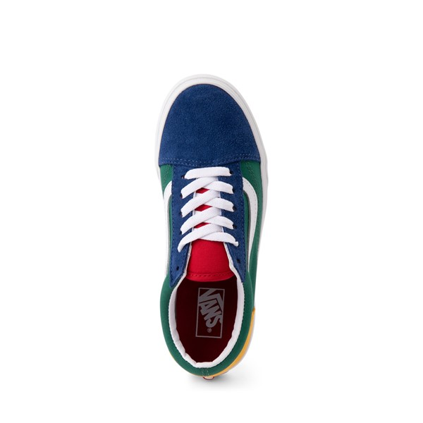 alternate image alternate view Vans Old Skool Skate Shoe - Little Kid - Blue / Green / YellowALT2