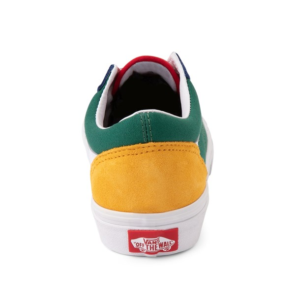 alternate image alternate view Vans Old Skool Skate Shoe - Little Kid - Blue / Green / YellowALT4