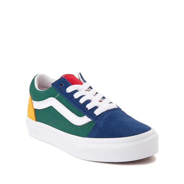 alternate image alternate view Vans Old Skool Skate Shoe - Little Kid - Blue / Green / YellowALT5