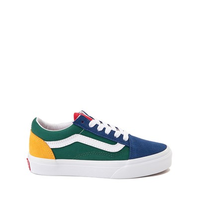 Main view of Vans Old Skool Skate Shoe - Little Kid - Blue / Green / Yellow