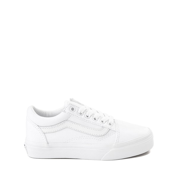 Vans Old Skool Skate Shoe - Little Kid - True White Monochrome