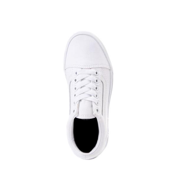 alternate image alternate view Vans Old Skool Skate Shoe - Little Kid - True White MonochromeALT2