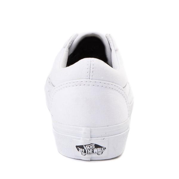 alternate image alternate view Vans Old Skool Skate Shoe - Little Kid - True White MonochromeALT4