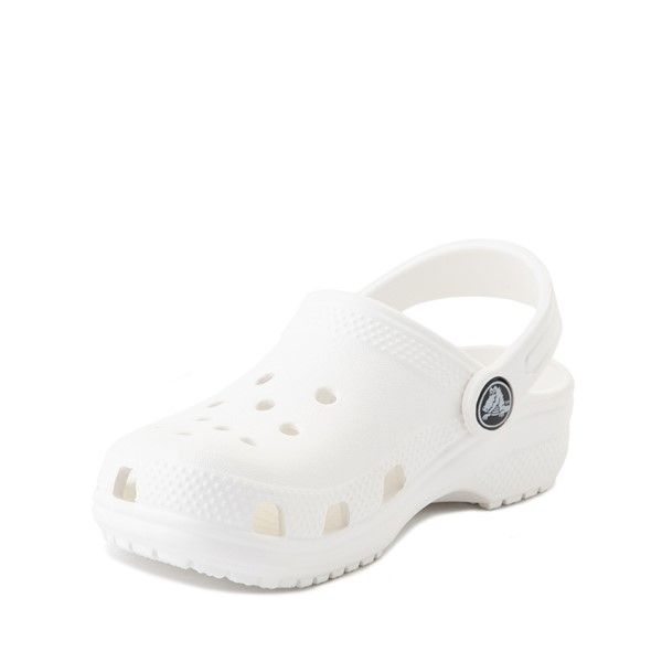 alternate image alternate view Crocs Classic Clog Sandal - Baby / Toddler / Little Kid - WhiteALT2