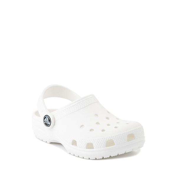 alternate image alternate view Crocs Classic Clog Sandal - Baby / Toddler / Little Kid - WhiteALT5