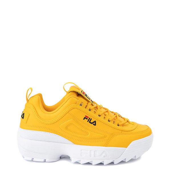 Womens Fila Disruptor 2 Athletic Shoe - Yellow / Navy / Red