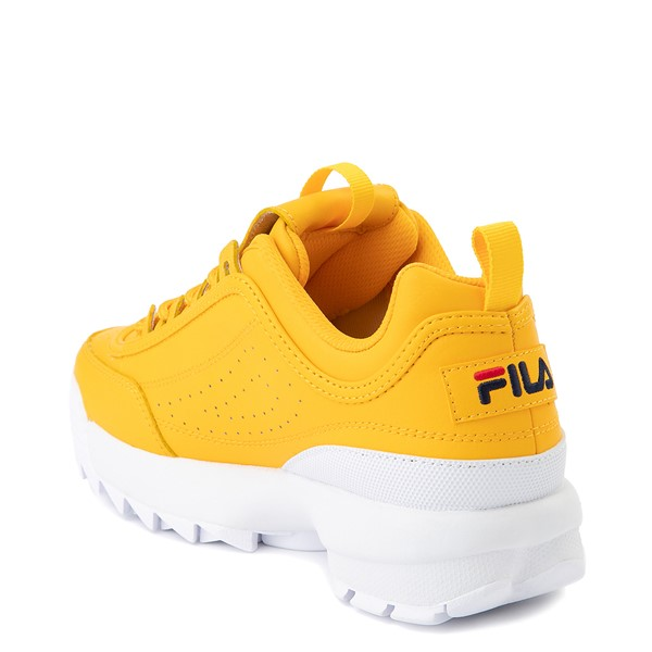 alternate image alternate view Womens Fila Disruptor 2 Athletic Shoe - Yellow / Navy / RedALT1