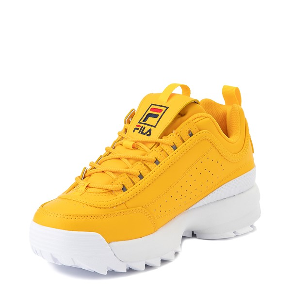 alternate image alternate view Womens Fila Disruptor 2 Athletic Shoe - Yellow / Navy / RedALT2