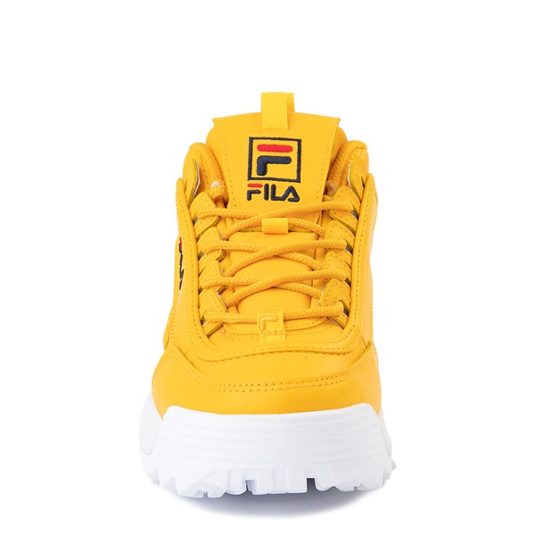 alternate image alternate view Womens Fila Disruptor 2 Athletic Shoe - Yellow / Navy / RedALT4