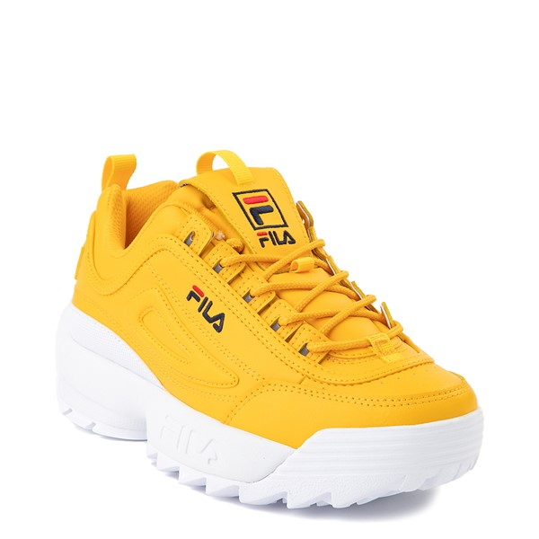 alternate image alternate view Womens Fila Disruptor 2 Athletic Shoe - Yellow / Navy / RedALT5