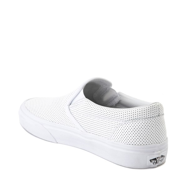 alternate image alternate view Vans Slip On Perforated Leather Skate Shoe - WhiteALT1