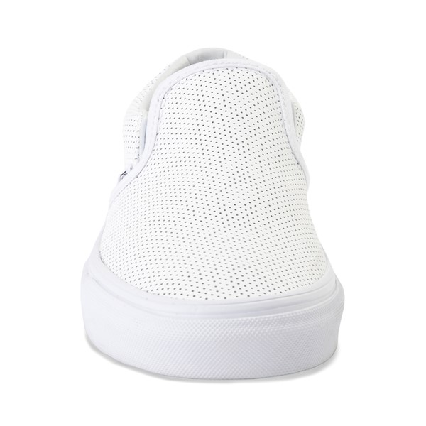 alternate image alternate view Vans Slip On Perforated Leather Skate Shoe - WhiteALT4