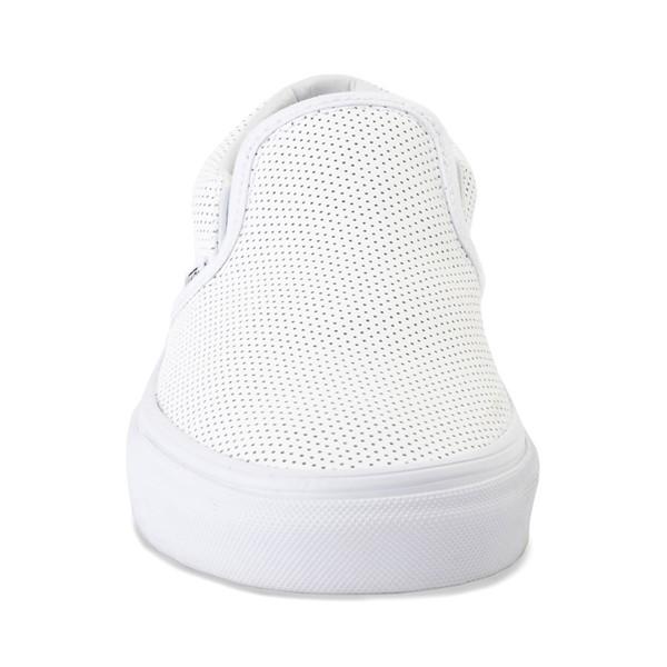 alternate image alternate view Vans Slip On Perforated Leather Skate Shoe - WhiteALT4