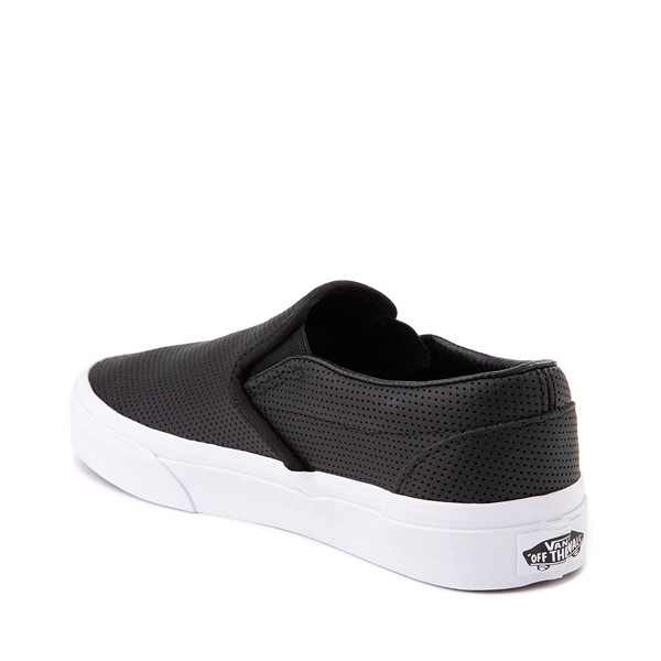 alternate image alternate view Vans Slip On Leather Perf Skate Shoe - BlackALT1
