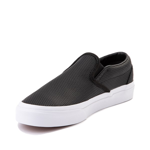 alternate image alternate view Vans Slip On Leather Perf Skate Shoe - BlackALT2