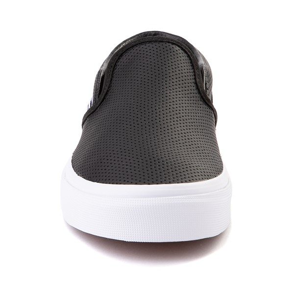 alternate image alternate view Vans Slip On Leather Perf Skate Shoe - BlackALT4