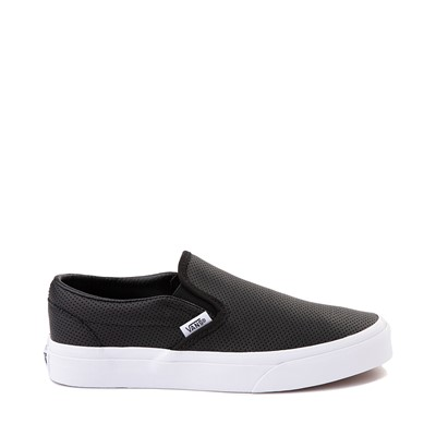 Main view of Vans Slip On Leather Perf Skate Shoe - Black
