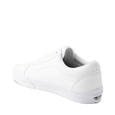 Alternate view of Vans Old Skool Leather Skate Shoe - White Monochrome